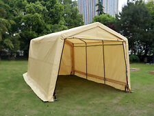 10x15x8ft Outdoor Carport Canopy Tent Garage Portable Shelter Cover Beige