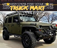 2007-2018 JEEP WRANGLER JK 4 DRS BLACK NERF BARS HOOP SIDE STEP RUNNING BOARDS