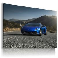 LAMBORGHINI GALLARDO BLUE  Sport Cars Large Wall Art Canvas Picture AU162 MATAGA
