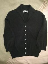 Beautiful Brora Charcoal Grey Cashmere Vintage Collared Cardigan