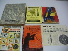 Vintage Lot Lyman, Belding Springfield Reloading Books Numrich Gun Parts Markell