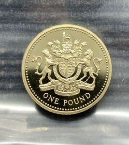 1993 Royal Coat of Arms PROOF £1 pound coin Royal Mint