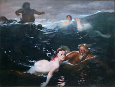 Playing In The Waves Arnold Böcklin  Wall Art  Canvas