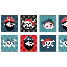 PIRATES SQUARES FABRIC PANEL