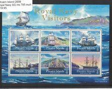 2009 Pitcairn Islands, Royal Navy Visitors, SG MS 795 MUH