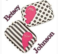 $52 Betsey Johnson 2 For 1 Zip Cosmetic Case BUP 22