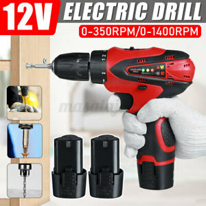 12V Cordless Electric Drill Screwdriver Driver Wireless Mini Power Too