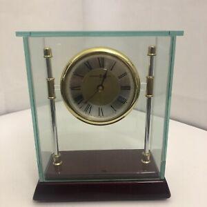 Howard Miller 645-558 Kensington Table Mantel Shelf Clock With Glass Box