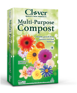 MULTI-PURPOSE COMPOST 60lts Clover potting planting -FREE NEXT DAY DPD DELIVERY-