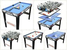 4 in 1 Multi- Game Pool Table Tennis Football Air Hockey Indoor Sport Family Fun