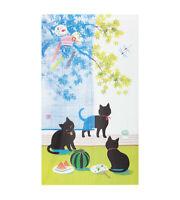 JAPANESE Noren Curtain Cat Summer JAPAN 85 x 150cm noren-0391