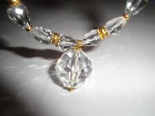 Bracciale stile vintage con sfera e briolette in cristallo austriaco trasparente