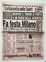 GAZZETTA DELLO SPORT 16-1-1984 MILAN JUVENTUS INTER TORINO JOHN MCENROE MASTERS