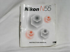 Nikon N55 camera Instruction manual . English Edition Good condition