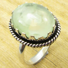 925 Silver Overlay Unseen Prehnite DESIGNER Ring Size R ½ ! Jewelry Store NEW