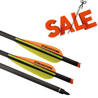 "6X Easton Vane Carbon Arrows 20"" Crossbow Bolts Archery Outdoor Target Hunting"