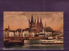 Gelaufene Ansichtskarte Köln Rheinpanorama. Nordrhein-westfalen Eisenbahn europa:11403