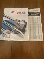 91-92 Snap-On Quality Tools And Service Equipment Catalog 100 & 1990 Price Sheet