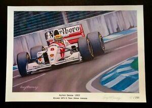 Ayrton Senna 1993 McLaren MP4/8 Adelaide Formula 1 Signed Limited Edition Print