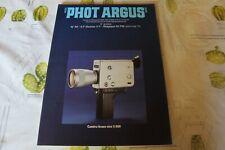 REVUE  PHOT ARGUS N° 58  CAMERA BRAUN NIZO S 800 francais PHOTO PHOTOGRAPHIE