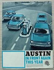 AUSTIN CAR RANGE Sales Brochure 1967 #2317 MINI Saloon/Countryman A40 1100 A110