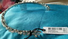 ♡♡♡New $ 149 MIMCO Rendezvous Halo Headpiece Silver Crystals perls Race Wedding