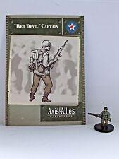 """Diablo Rojo"" capitán, Axis & Allies-Base Set, 25/48, Tarjeta C/W"