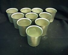 10 VOTIVE ROUND METAL MOLDS SEAMLESS CANDLE TAPERED