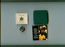 2003 GOLDEN DAFFODIL 50 CENT STERLING SILVER WITH GOLD PLATING MIB