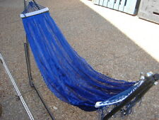 "indoor/outdoor adult Hammock swing bed with metal frame for adult up to 72"" Blue"