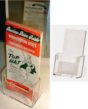 Map/Ad/Menu/Promo Brochure/Program/Card Holder Sales Display Stand Clear Plastic