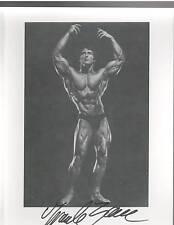 Frank Zane Mr Olympia / Mr Universe Bodybuilding Muscle Photo Signed