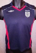 England National Team Blue Umbro Sleeveless Training Jersey NWOT - Youth Large