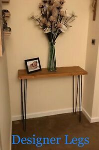 """2x Hairpin Console Table Legs  28"""" & 34""""  10&12mm bar (2 legs) Made in England"""