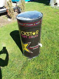 Rockstar Energy Drink Refrigerator Cooler Used