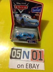 Disney Pixar Cars Dinoco McQueen Blue (2007)  Supercharged - Mattel 1:55 (FB01)