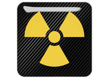 "Nuclear Symbol 1""x1"" Chrome Domed Case Badge / Sticker Logo"