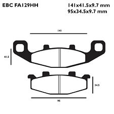 EBC FA129HH Replacement Brake Pads for Front Suzuki GSF 250 Bandit 92-96