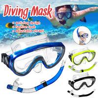 ADULT Snorkel Glasses Mask Diving Scuba Snorkeling Swimming Goggles Pipe Set