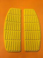 Harley Floorboard Rubber Mats Shovelhead Fl FLH 50614-66 Yellow Nos Oem