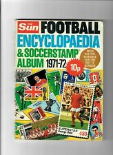 STICKER ALBUM - The Sun Football Encyclopaedia & Stamp 1971/72 (20% Stickers)