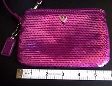 AUTHENTIC COACH POPPY SEQUIN SWEETHEART WRISTLET 44939 SPECIAL OCCASION - RARE