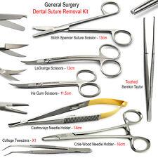 Dental Surgical Suture Removal Kit Vétérinaire Ciseaux Tissu Aiguille Détenteurs X7
