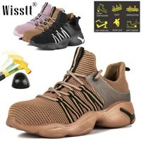 Men's Steel Toe Work Boots Safety Shoes Indestructible Hiking Sneakers Outdoor