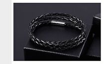Men Women's Multilayer Leather Braided Rope Bracelet  Cool Bangle Cuff