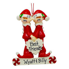 PERSONALIZED Best Friends 2 Brothers Christmas Tree Ornament 2019 Holiday Gift