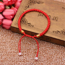 Men Women Good Luck Hand Braided Lucky Red String Rope Cord Bracelet Gift
