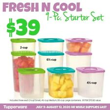 Tupperware Fresh and Cool 9pc starter set
