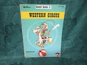 vintage Lucky Luke book in danish, no 6  ,western circus, 1974