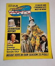1989 DOCTOR WHO MAGAZINE #145 TERRY NATION SYLVESTER McCOY & ACE FANZINE